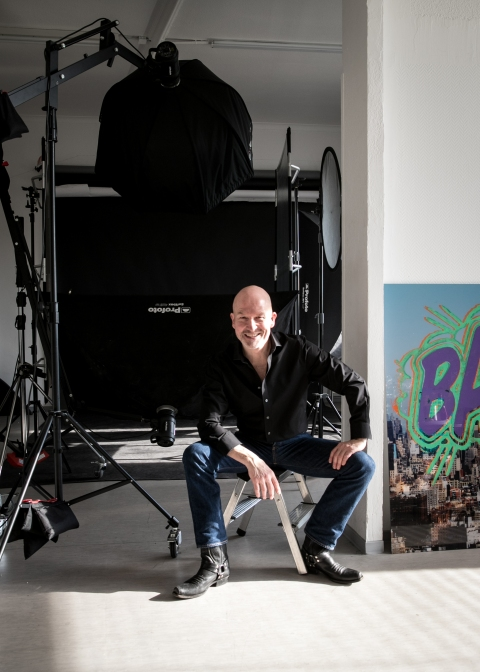 Raimar in his studio, © Raimar von Wienskowski